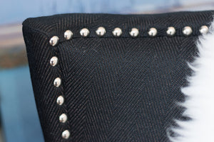 Black Studded Chair