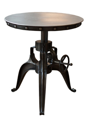 Large Metal Iron Crank Table