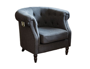 Dark Blue/Grey Wool Chair