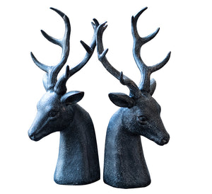 Deer Head Bookends