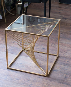 Gold Twist Sidetable