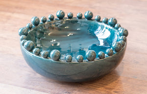 Teal Bowl with Balls