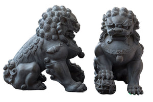Medium Grey Foo Dogs
