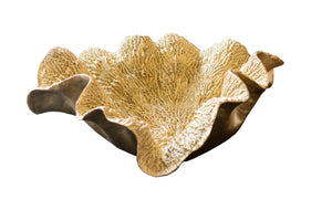 Large Gold Faux Coral Bowl