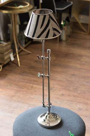 Nickel Lamp Zebra Stripe Shade
