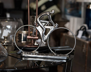 Silver Cyclist Ornament