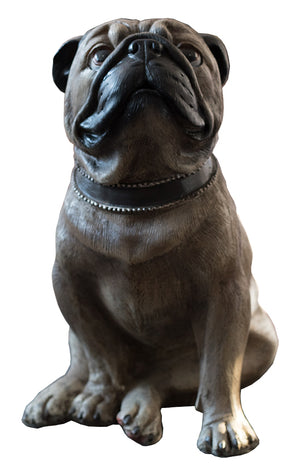 Sitting Pug Dog Ornament
