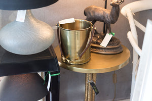 Stirrup Handled Brass Ice Bucket