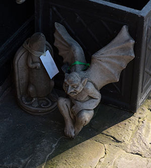 Wall Winged Gargoyle Outdoor Ornament