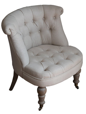 Beige Buttoned Chair