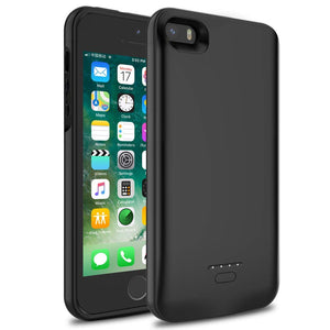 buy online 53953 61795 iPhone 5/5S/SE Battery Case, Wavypo 4000mAh Ultra Slim Extended  Rechargeable Charger Case External Battery Pack Portable Power Bank  Protective ...