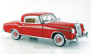 SUN3563 - 1958 MERCEDES BENZ 220 SE COUPE RED