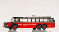 PCL12304 - MERCEDES BENZ O 10000 BUS BLACK OVER RED