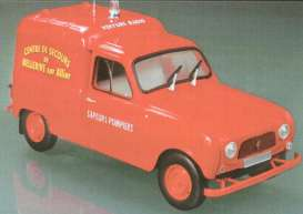 NOR185193 - RENAULT 4 F 4 SAPEURS POMPIERS RED