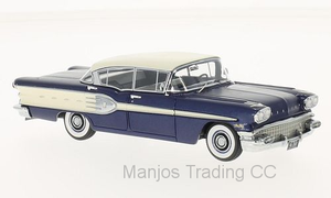 NEO46260 - 1958 PONTIAC STARCHIEF 4 DOOR SEDAN BLUE WITH WHITE TOP