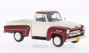 WB093 - 1958 CHEVROLET 3100 PICK UP MAROON/WHITE
