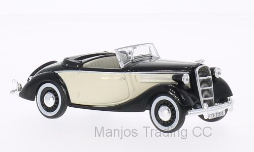 WB104 - 1937 OPEL SUPER 6 BLACK/CREAM