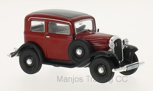WB151 - 1935 OPEL P4 RED/BLACK