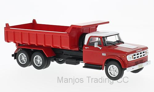 WB203 - DODGE D950 1974 TIPPER RED/WHITE
