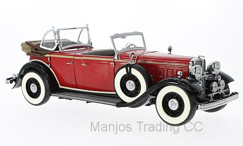SUN6166 - 1932 FORD LINCOLN KB TOP DOWN RED