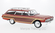 MCG18074 - FORD COUNTRY SQUIRE RED WITH ROOF RAILS