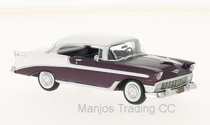 NEO47035 - 1956 CHEVROLET BELAIR SPORT COUPE BURGUNDY AND WHITE