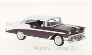 1956 CHEVROLET BELAIR SPORT COUPE BURGUNDY AND WHITE