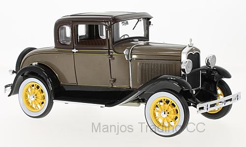 SUN6134 - 1931 FORD MODEL A COUPE STONE BROWN