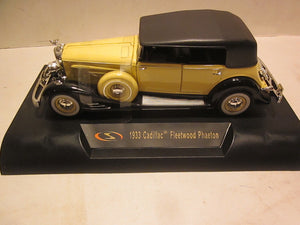 SIG32367 - 1933 CADILLAC FLEETWOOD SERIES 452-C YELLOW WITH BLACK TOP