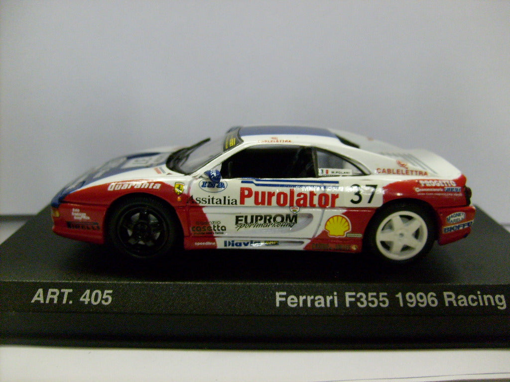 DET405 - FERRARI F355 1995 COUPE WHITE & RED #37
