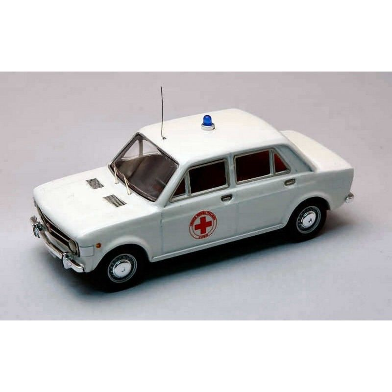 RIO4187 - FIAT 128 QUATTRO PORTE RED 1970 (RED CROSS)