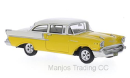BOS43635 - CHEVROLET 150 2DOOR SEDAN YELLOW/WHITE 1957