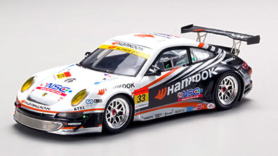EBB43925 - HANKOOK PORSCHE SUPER GT300 2007 #33 (RESIN) WHITE / BLACK