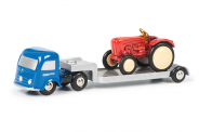 450128900 - Pic.MERCEDES BENZ FLATBED TRAILER WITH TRACTOR