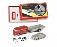 450557900 - PICOLLO CONSTRUCTION KIT VW T1 WITH PORSCHE 356 ON TRAILER