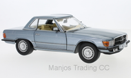 SUN4666 - 1977 MERCEDES BENZ 350 SL HARD TOP BLUE