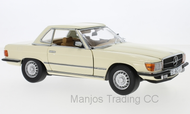 SUN4667 - 1977 MERCEDES BENZ 350 SL HARD TOP IVORY