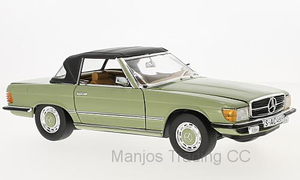 SUN4669 - 1977 MERCEDES-BENZ 350 SL CLOSED CONVERTIBLE GREEN