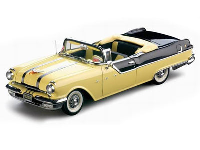 SUN5052 - 1955 PONTIAC STAR CHIEF CONVERTIBLE RAVEN BLACK / AVALON YELLOW