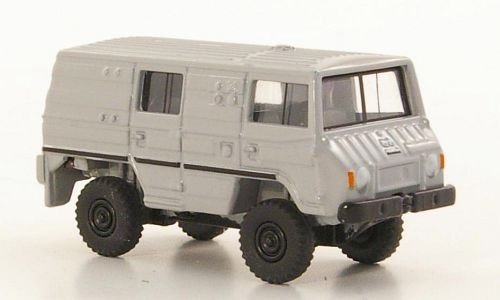 BUB05552 - PINZGAUER 2 AXLES BOX TRUCK GREY