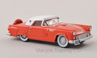 87TH56004 - FORD THUNDERBIRD 1956 RED/WHITE