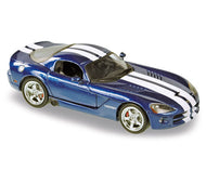 NOR950020 - DODGE VIPER COUPE 2006 BLUE PEARL COAT WITH WHITE STRIPES