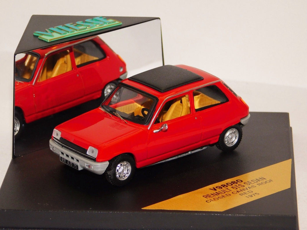 V98080 - RENAULT 5TS SEDAN RED 1975