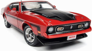 AMM1150 - 1971 FORD MUSTANG MACH 1 RED WITH BLACK STRIPING