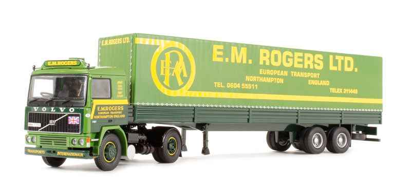 CC15504 - VOLVO F10 TILT TRAILER - EM ROGERS LTD - EUROPEAN TRANSPORT ENGLAND