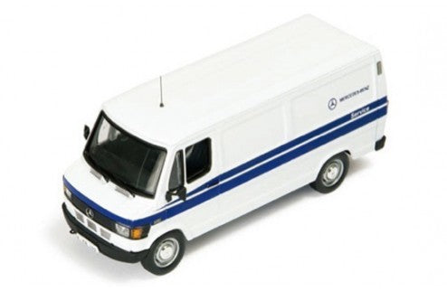 CLC106 - MERCEDES L309D 1985 (MERCEDES SERVICE) WHITE WITH BLUE STRIPES