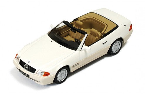 CLC195 - MERCEDES SL500 (R129) 1990 PEARL WHITE WITH BEIGE INTERIORS