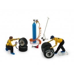 F091 - FERRARI PIT CREW MECHANICS (TYRE CHANGE SET)
