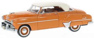 NEO44052 - 1952 CHEVROLET STYLELINE DE LUXE COUPE ORANGE WITH WHITE ROOF