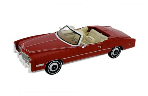 PR0003 - CADILLAC ELDORADO OPEN CONVERTIBLE 1976 RED WITH BEIGE INTERIORS